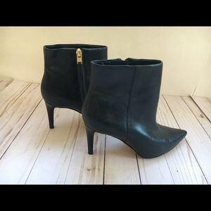 Sam Edelman Black Leather Heel Booties